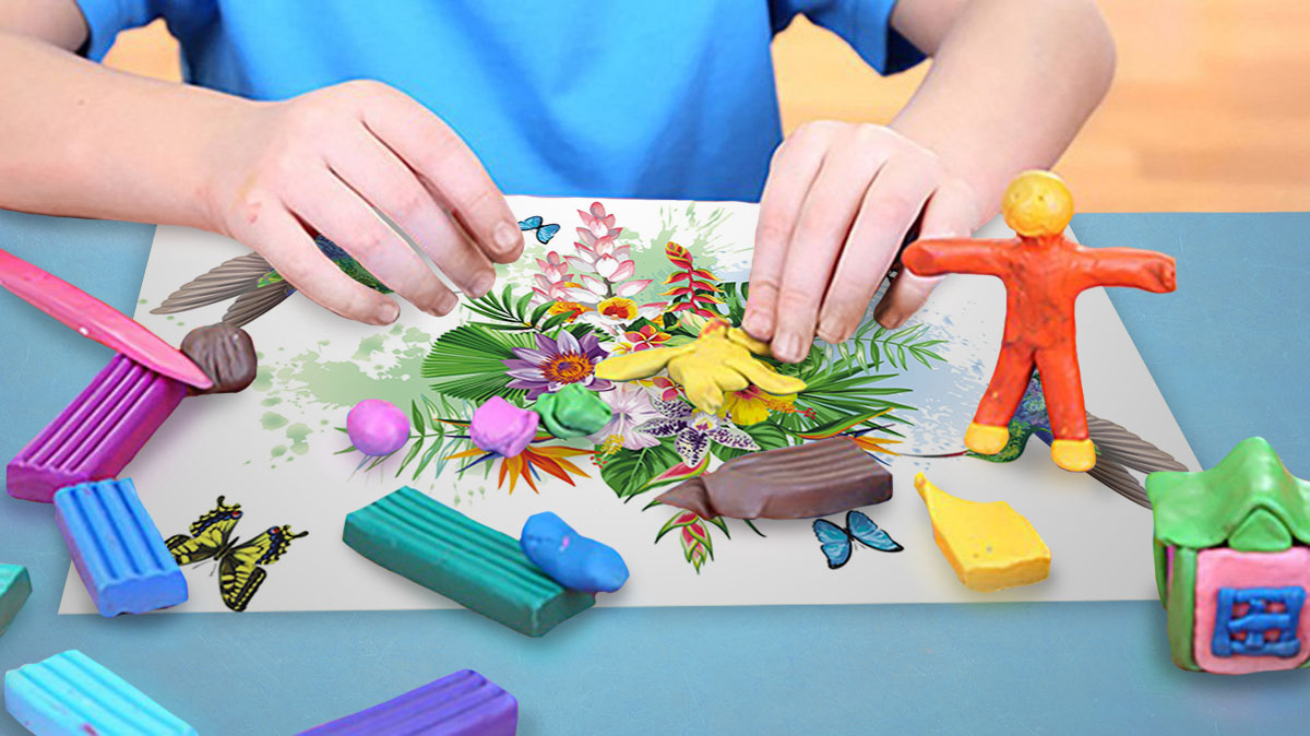 Пластилиновые картинки для творчества